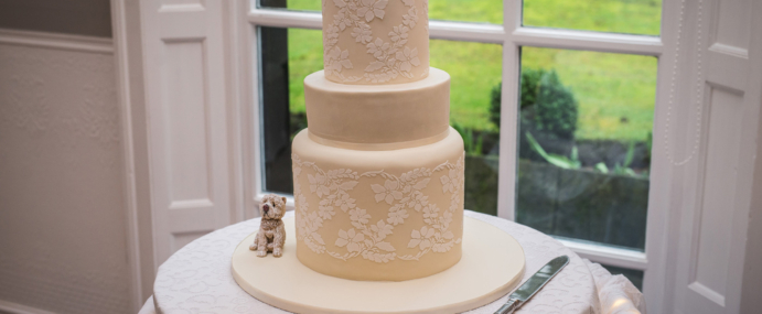 A cake for charity and one lucky couple